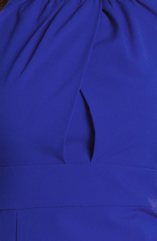 Alternate Image 3  - Calvin Klein Shirred Neck Cap Sleeve Sheath Dress