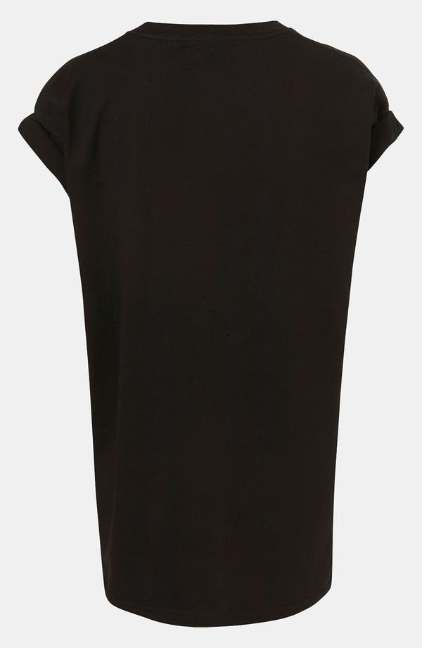 Alternate Image 2  - Topshop Oversized Roll Sleeve Tee