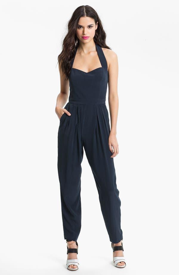 Alternate Image 1 Selected - Nicole Miller Sweetheart Silk Jumpsuit