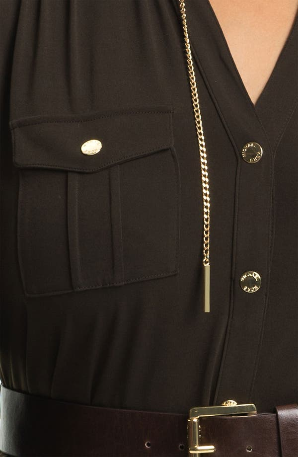 Alternate Image 3  - MICHAEL Michael Kors 'MJ' Belted Shirtdress (Plus)