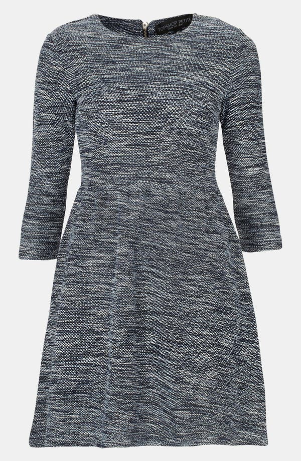 Alternate Image 1 Selected - Topshop Bouclé Skater Dress (Petite)