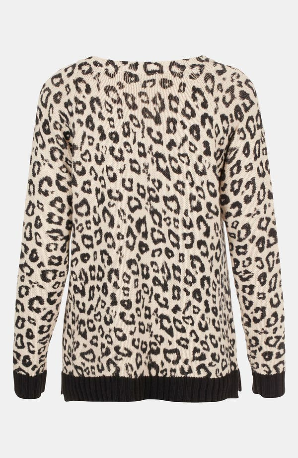 Alternate Image 2  - Topshop Leopard Print Sweater