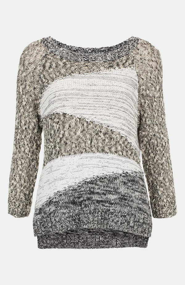 Alternate Image 1 Selected - Topshop Mixed Yarn Insert Sweater