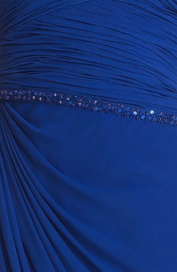 Alternate Image 3  - Aidan Mattox Embellished Ruched Chiffon Gown