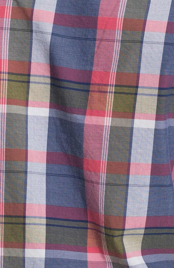 Alternate Image 3  - 1901 Washed Poplin Plaid Woven Shirt
