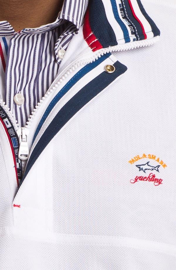 Alternate Image 3  - Paul & Shark Quarter Zip Pique Sweater