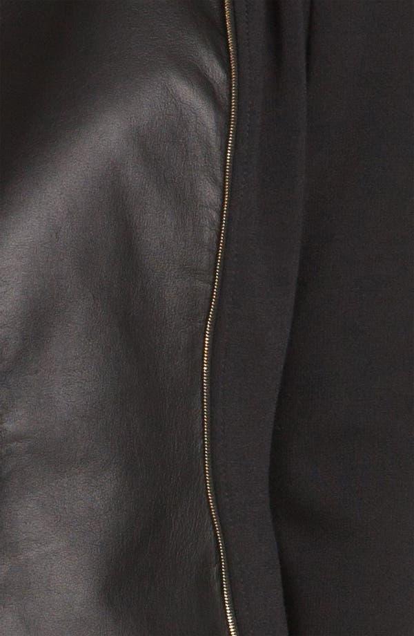 Alternate Image 5  - St. John Collection Leather & Milano Knit Moto Jacket