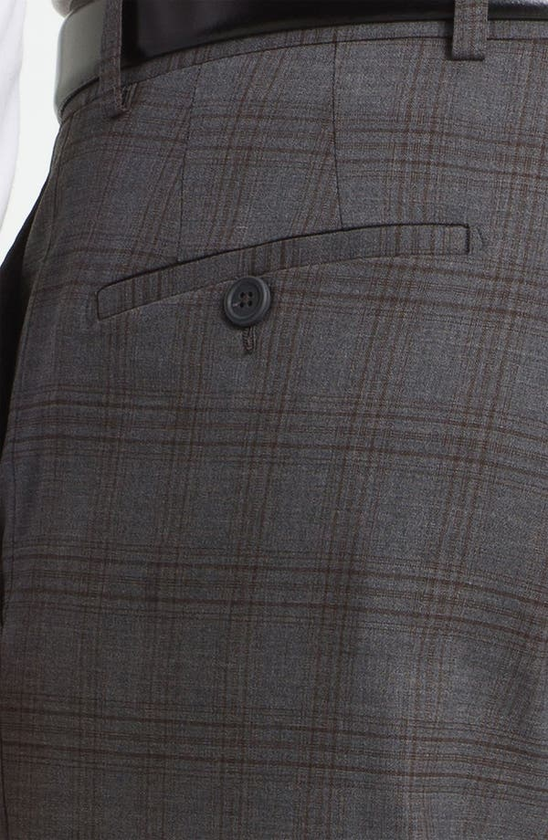 Alternate Image 3  - Linea Naturale 'Hammertime Plaid' Flat Front Wool Trousers