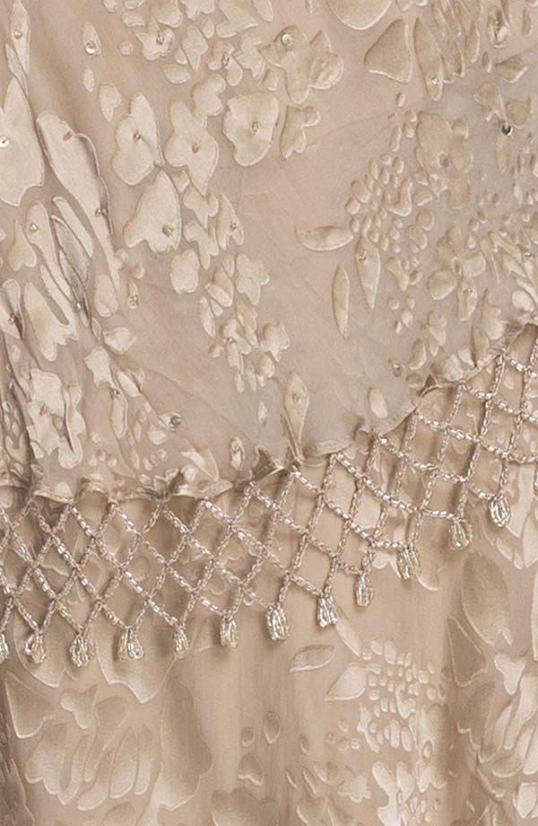 Alternate Image 3  - Alex Evenings Lattice Trim Burnout Chiffon Sheath Dress