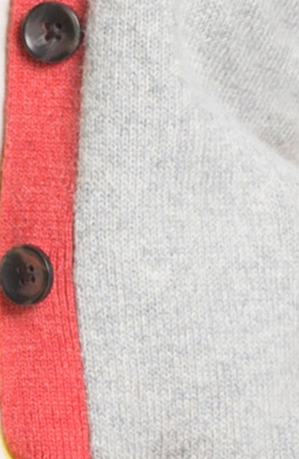 Alternate Image 3  - Caslon Tipped V-Neck Cardigan (Petite)
