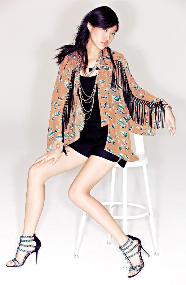 Alternate Image 4  - Viva Vena! Fringed Kimono Jacket