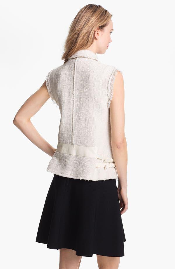 Alternate Image 2  - Rebecca Taylor Tweed & Leather Vest