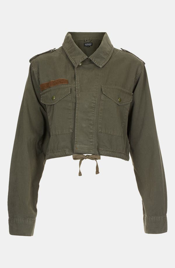 Alternate Image 1 Selected - Topshop Crop Army Jacket