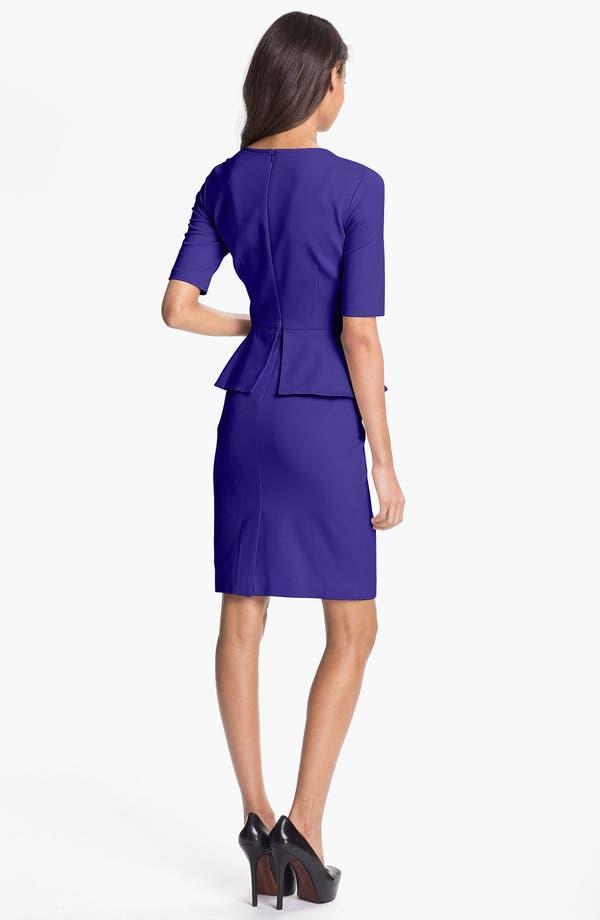 Alternate Image 2  - Trina Turk 'Trophie' Peplum Ponte Sheath Dress