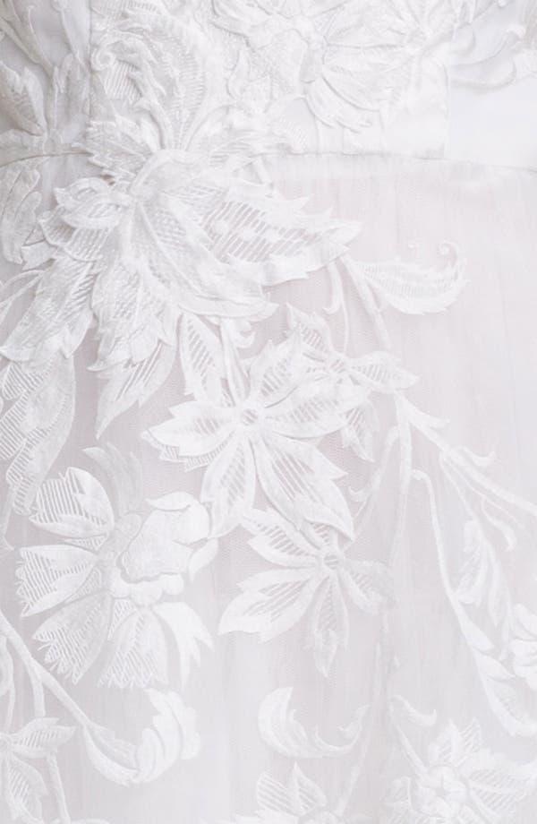 Alternate Image 3  - Adrianna Papell Embroidered Taffeta Fit & Flare Dress