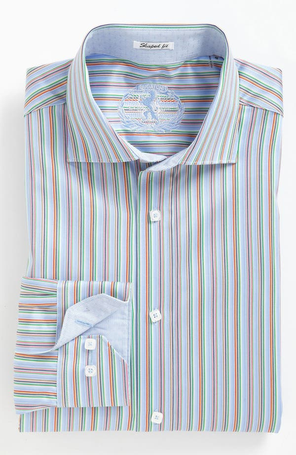 Alternate Image 4  - BUGATCHI Shaped Fit Sport Shirt