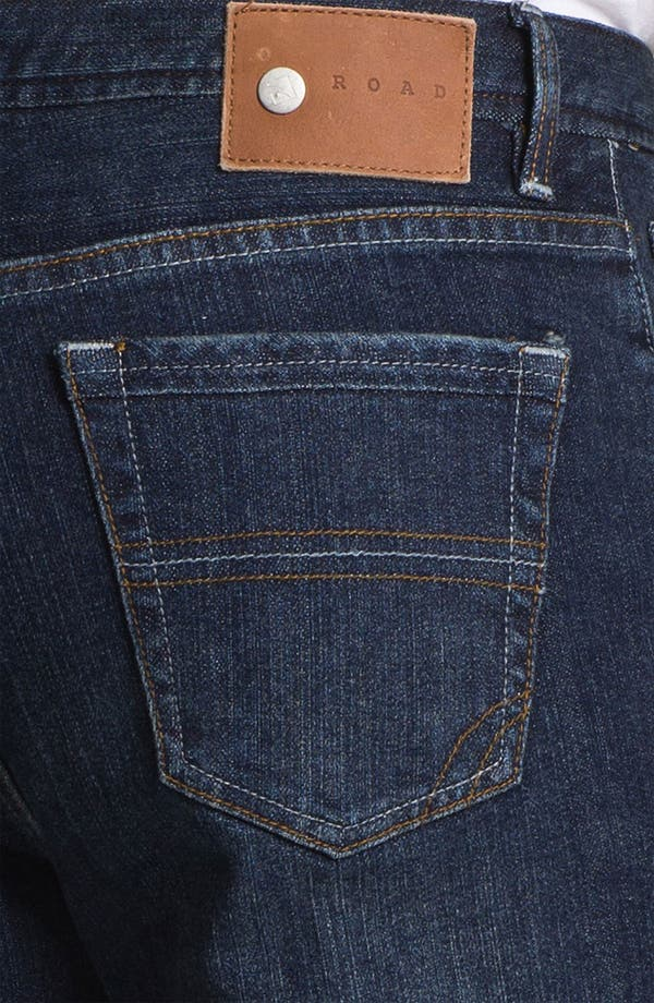 Alternate Image 4  - ROAD 'Abbey Stretch' Relaxed Fit Straight Leg Jeans (Dark Wash)
