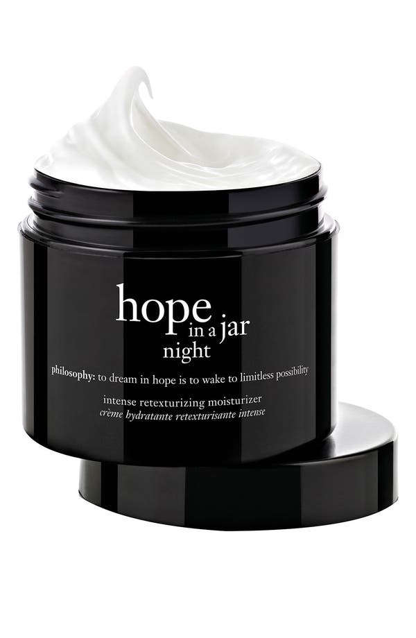 Alternate Image 1 Selected - philosophy 'hope in a jar night' intensive retexturizing moisturizer