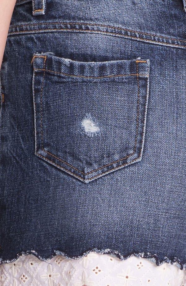 Alternate Image 3  - Man Repeller X PJK Destroyed Stretch Denim Shorts