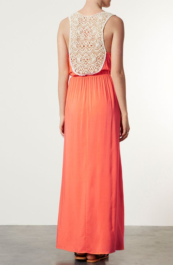 Alternate Image 3  - Topshop Crochet Panel Maxi Dress