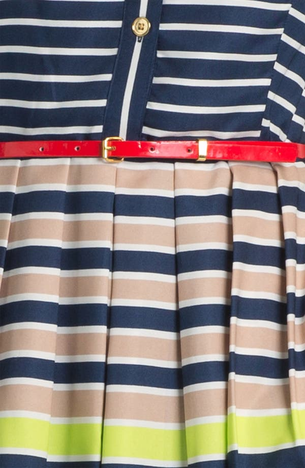 Alternate Image 3  - Ellen Tracy Stripe Twill Shirtdress
