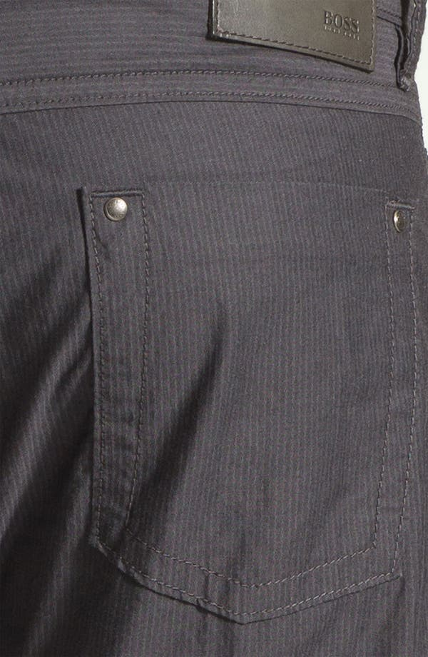 Alternate Image 3  - BOSS Black 'Michigan' Slim Fit Straight Leg Pants