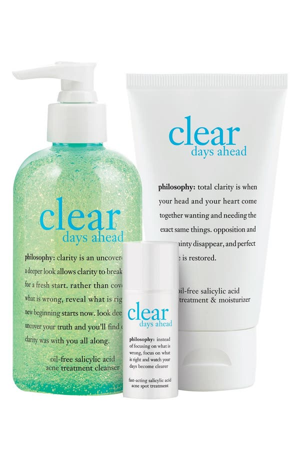 Alternate Image 2  - philosophy 'clear & balanced' kit ($77 Value)