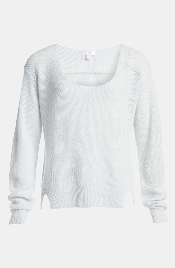 Main Image - Leith Linen Blend Scoop Neck Pullover