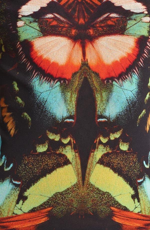 Alternate Image 3  - Jean Paul Gaultier Fuzzi Butterfly Print Tulle Turtleneck