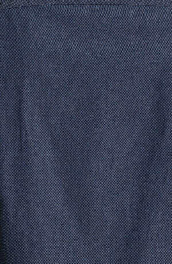 Alternate Image 3  - Armani Collezioni Micro Check Cotton Sport Shirt