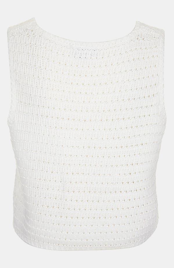 Alternate Image 2  - Topshop Crochet Crop Sweater