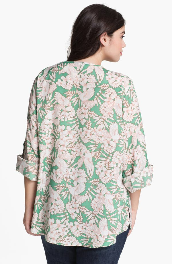 Alternate Image 2  - Collective Concepts Print Bell Sleeve Top (Plus Size)