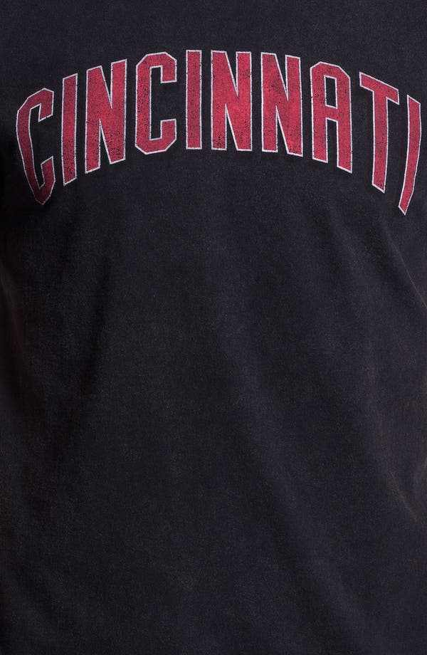 Alternate Image 3  - Red Jacket 'Cincinnati Reds' Trim Fit Crewneck Ringer T-Shirt