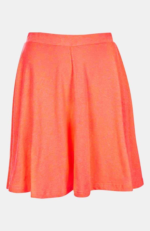 Main Image - Topshop 'Andie' Neon Skater Skirt