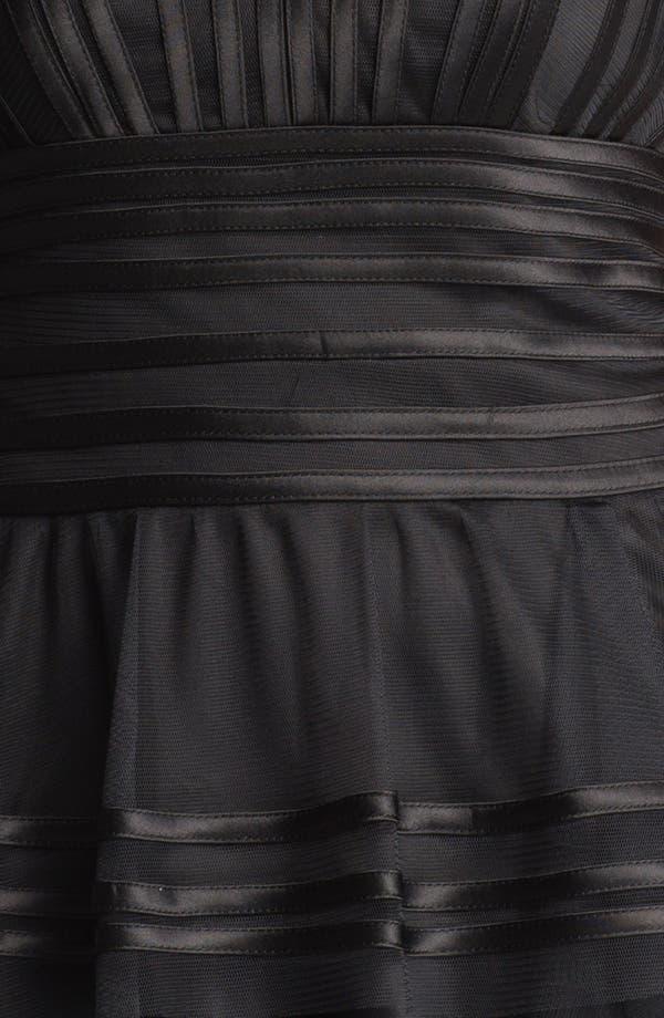 Alternate Image 3  - Tadashi Shoji Satin Stripe Mesh Peplum Top