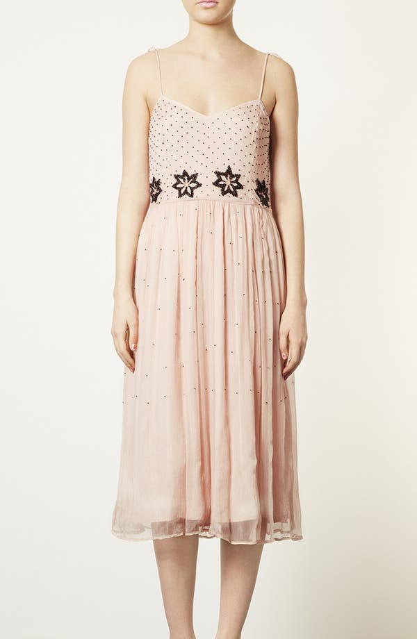 Main Image - Topshop 'Debutante' Beaded Midi Dress