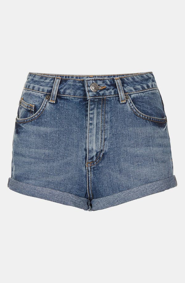 Alternate Image 3  - Topshop Moto 'Dark Vintage Polly' Denim Shorts
