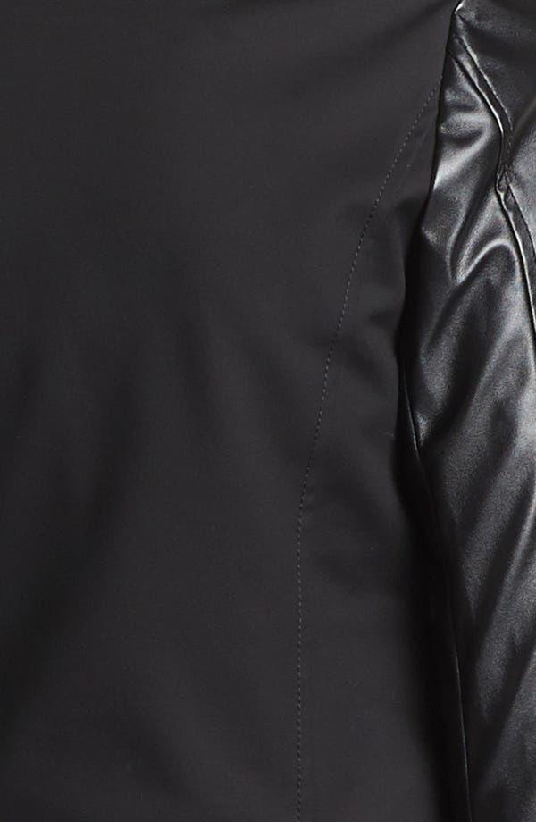 Alternate Image 5  - MICHAEL Michael Kors Knit & Faux Leather Moto Jacket