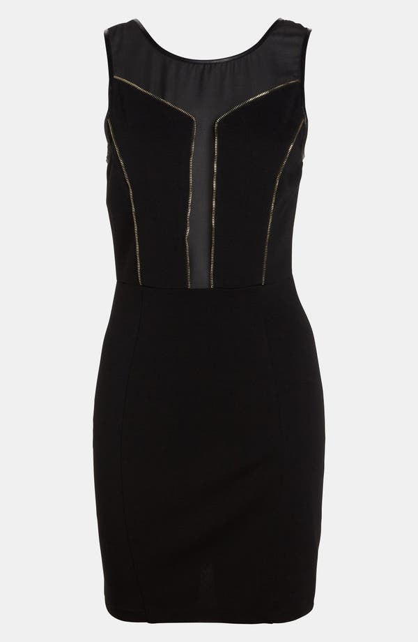 Alternate Image 1 Selected - ASTR Zip Trim Body-Con Dress