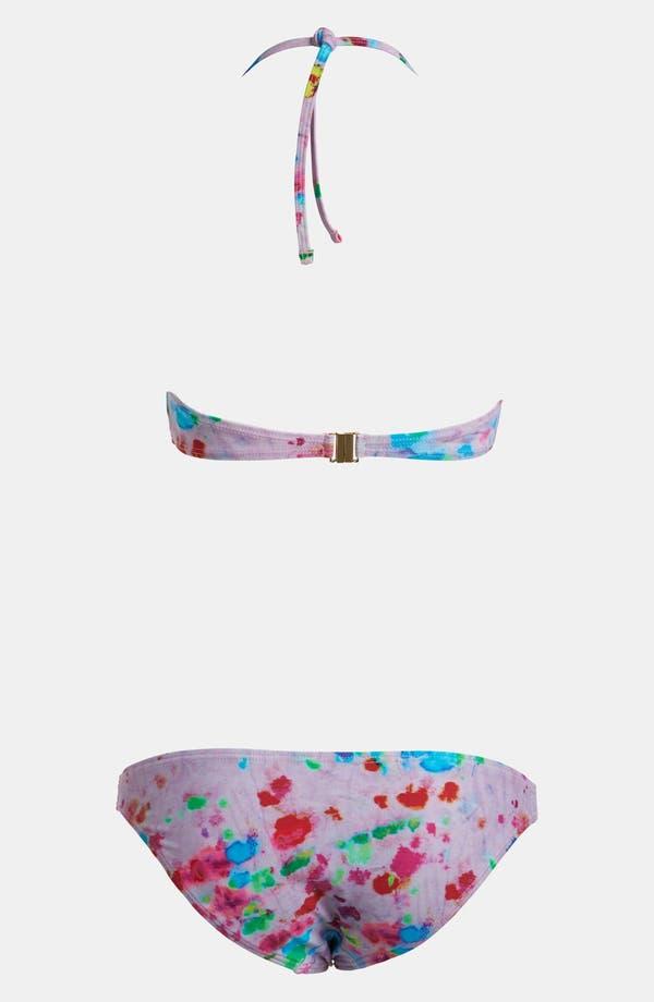 Alternate Image 2  - Topshop Tie Dye Bandeau Bikini