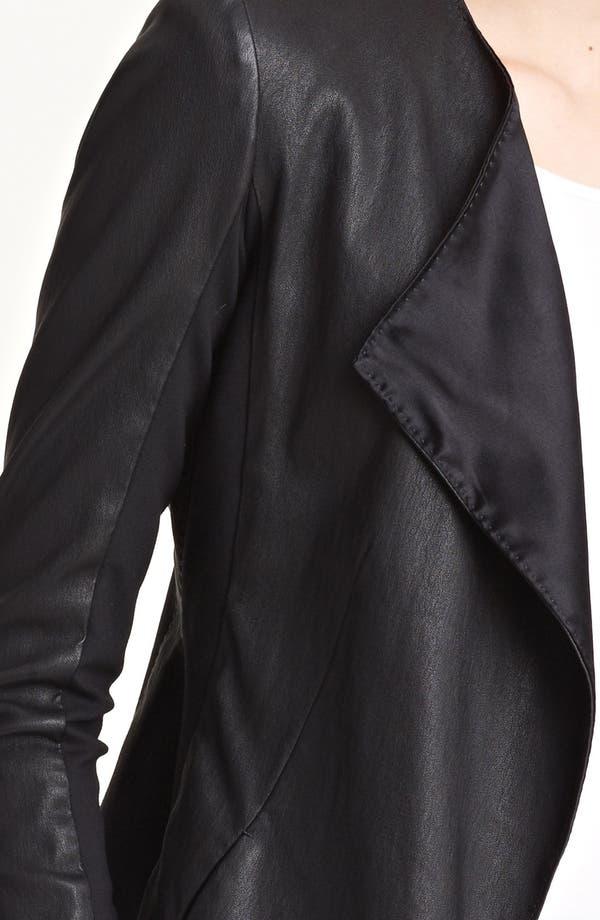 Alternate Image 3  - Donna Karan Collection Vintage Stretch Leather Jacket