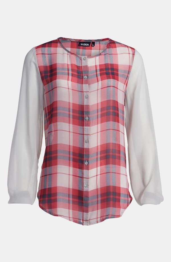 Alternate Image 1 Selected - Tildon Sheer Sleeve Blouse