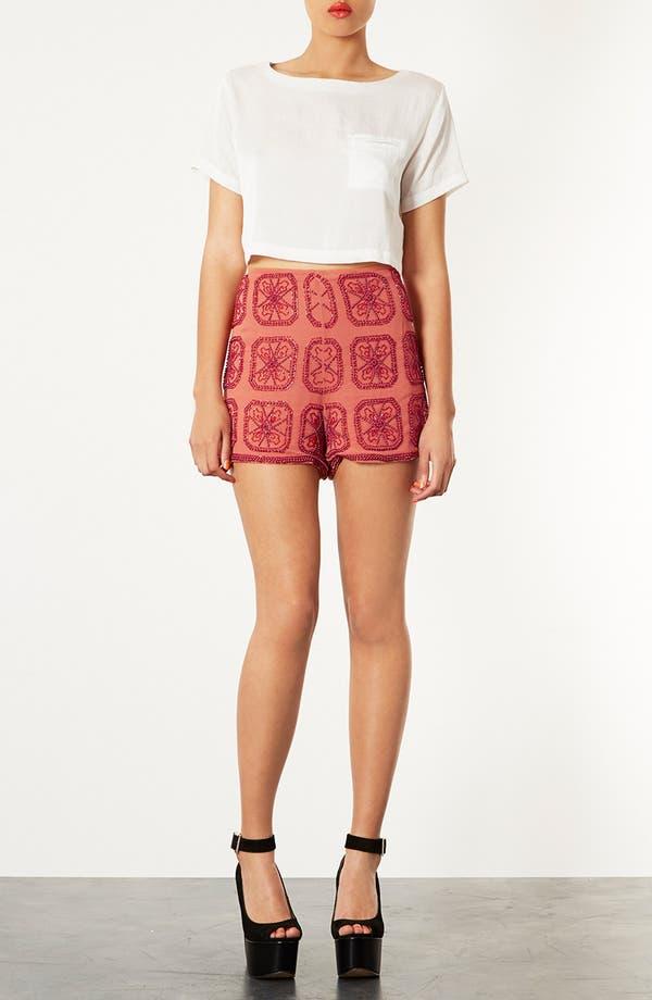 Alternate Image 3  - Topshop Beaded Shorts