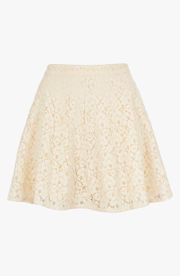Main Image - Topshop Lace Skater Skirt