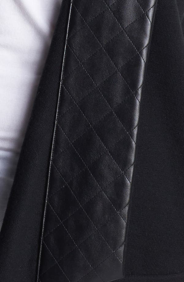 Alternate Image 3  - Nordstrom Quilted Faux Leather Trim Vest