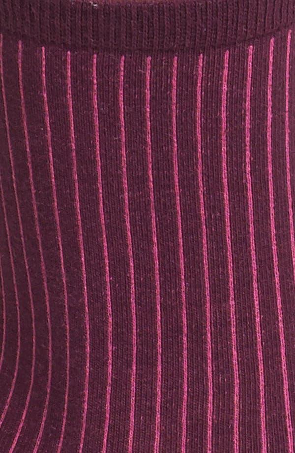 Alternate Image 2  - kensie Contrast Ribbed Socks