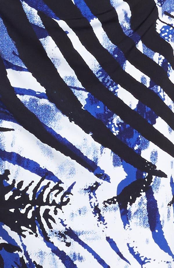 Alternate Image 3  - Kay Unger Cutout Detail Print Jersey Sheath Dress