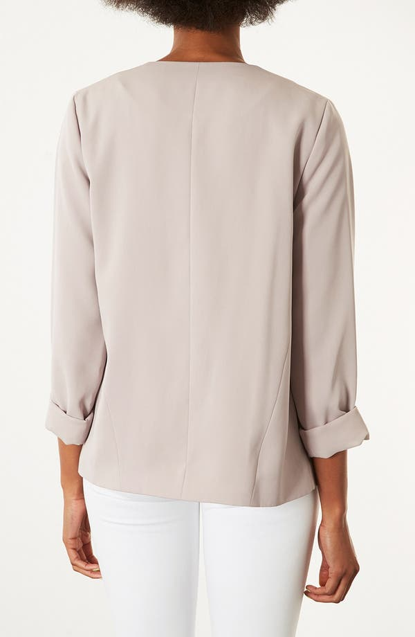 Alternate Image 2  - Topshop 'Fluid' Oversized Biker Jacket