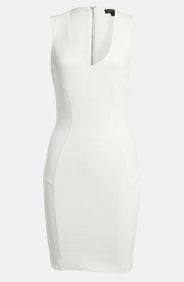 Main Image - Topshop Stripe Seamed Body-Con Dress
