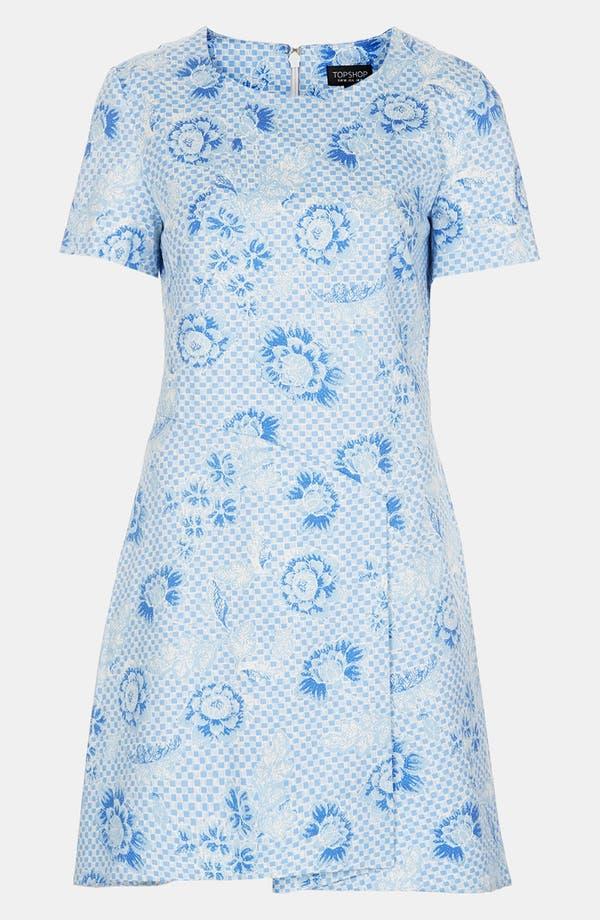 Alternate Image 3  - Topshop 'Wedgewood Check' Origami Dress